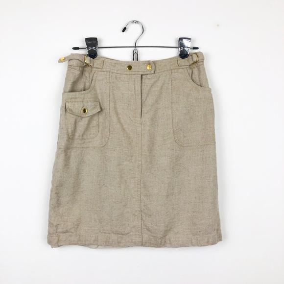 Peter Nygard Dresses & Skirts - Peter Nygard Tan with Gold Accents Skirt
